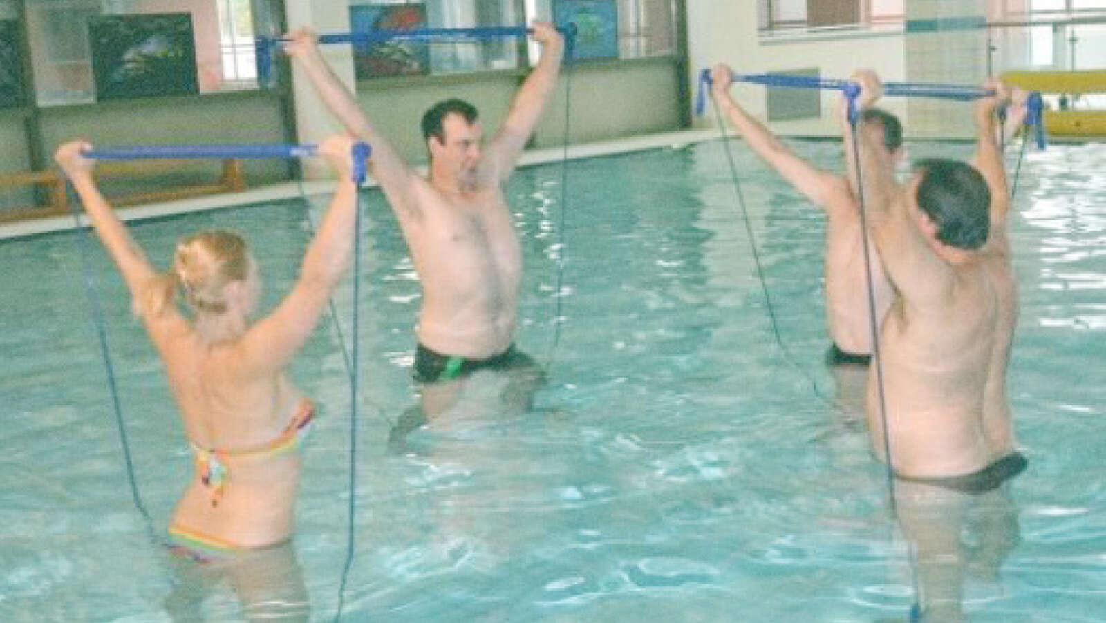 Photo, Center Naprej, rehabilitation in the water with aqua gymstick, 2018